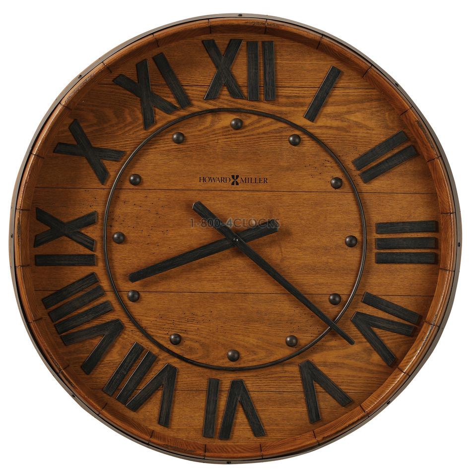 Oversize gallery wall clocks at 1 800 4clocks howard miller wine barrel wall clock amipublicfo Gallery