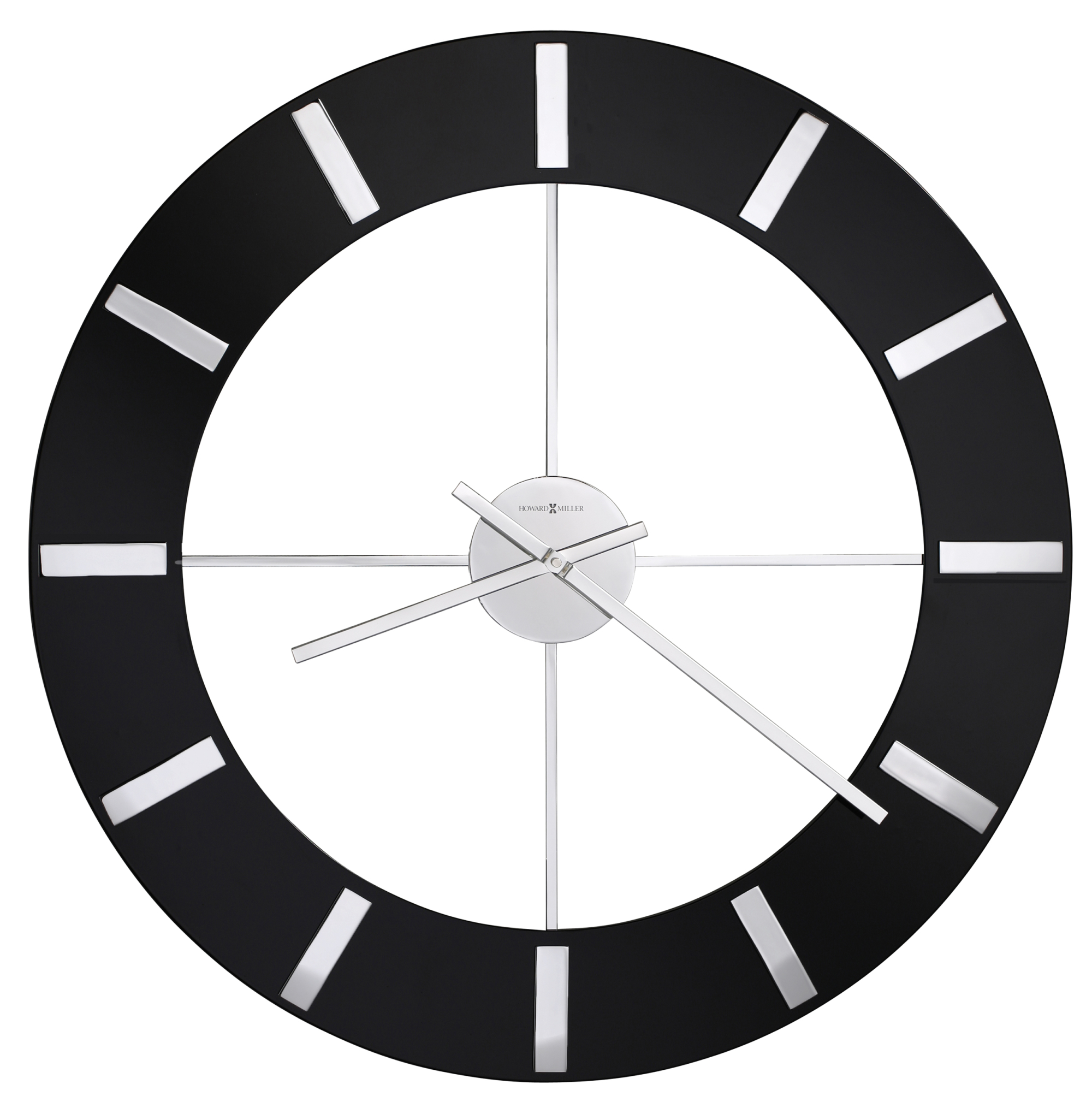 howard miller onyx oversized wall clock at 1