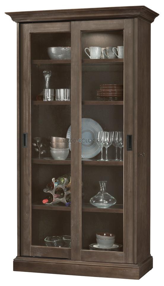 Howard Miller Meisha III Aged Auburn Collectors Cabinet Floor