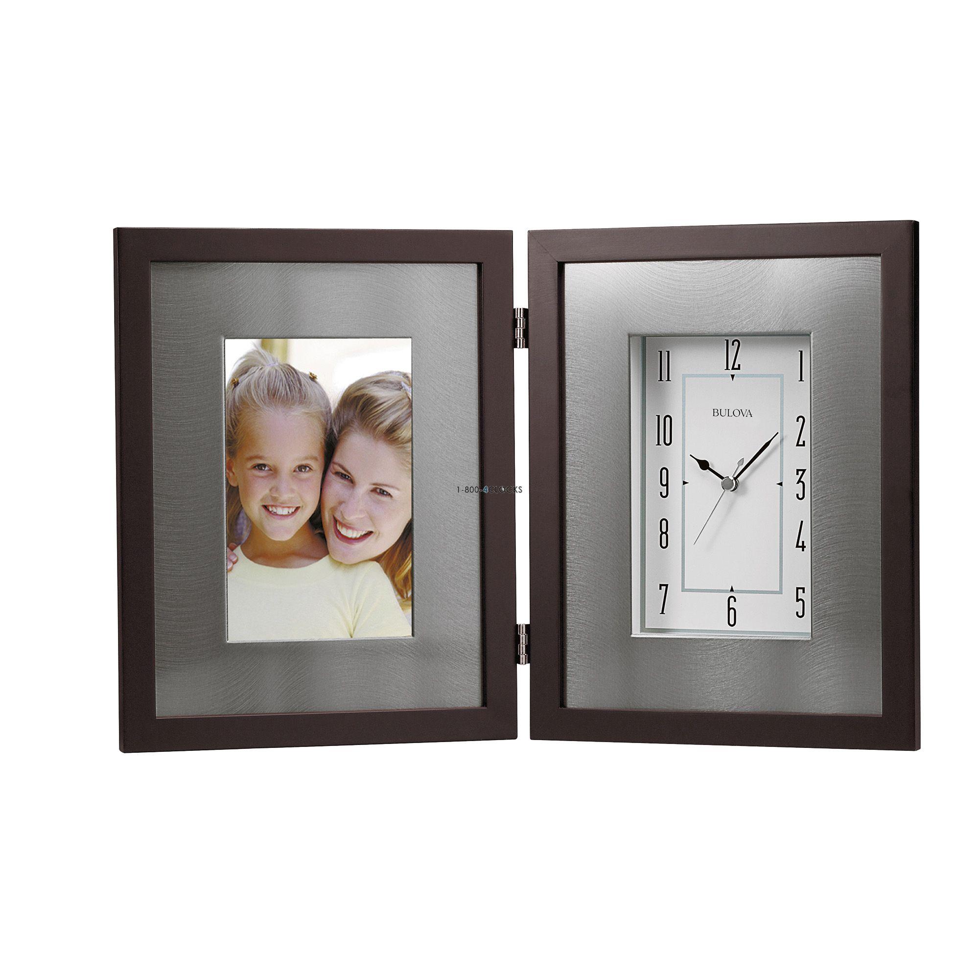 Bulova Winfield Photo Desk Clock At 1 800 4clocks Com