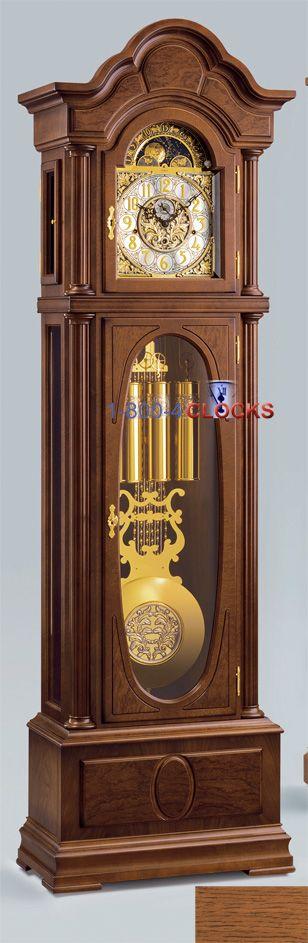 Kieninger Salisbury Grandfather Clock In Rustic Oak At 1