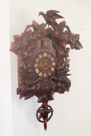 Huge Antique Cuckoo Wall Clock At 1 800 4clocks Com