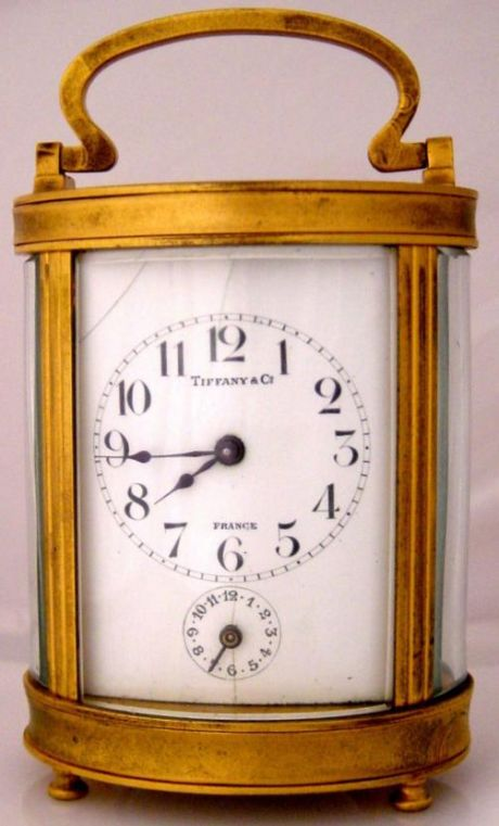 Antique Miniature Tiffany Co Carriage Clock At 1 800