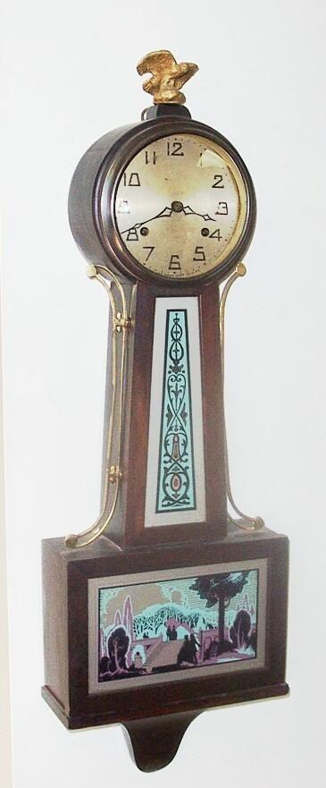 New Haven Banjo Wall Clock At 1 800 4clocks Com