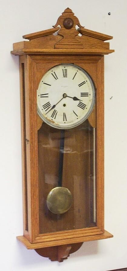large new haven wall regulator antique clock 6509181035