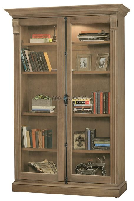 Howard Miller Chadsford Ii Aged Natural Collectors Cabinet