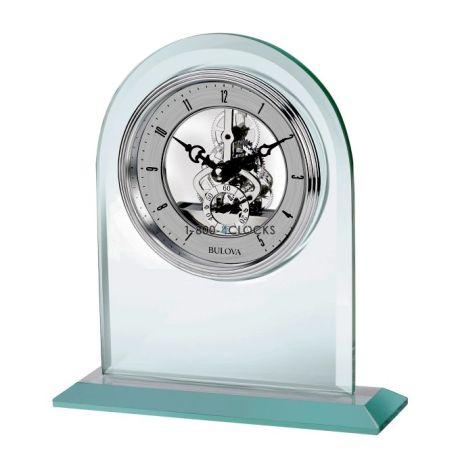 Bulova Clarity Skeleton Desk Clock