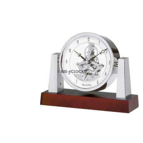 Bulova Largo Skeleton Desk Clock At 1