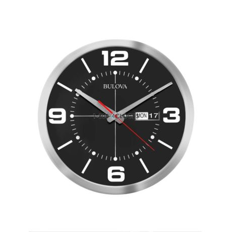 Bulova Calendar 14 Inch Wall Clock At 1 800 4clocks Com