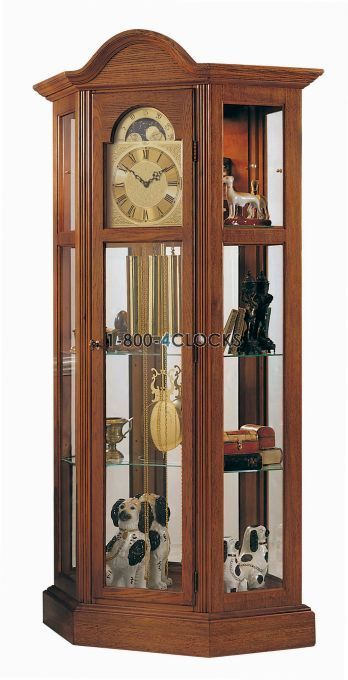 What Is Nyc Sales Tax >> Ridgeway Richardson II Curio Grandfather Clock at 1-800-4Clocks.com