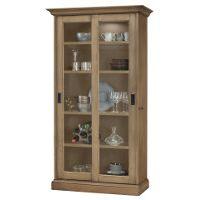 Howard Miller Meisha II Aged Natural Collectors Cabinet Floor